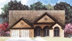 Tuscan Style Home Design Plan: 24-103