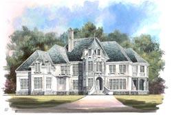 European Style House Plans Plan: 24-105