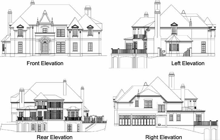 Rear Elevations Plan:24-106
