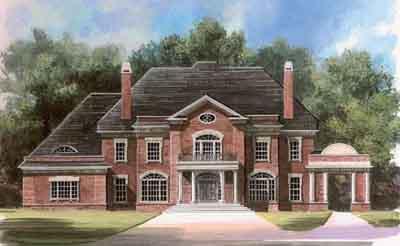 European Style House Plans Plan: 24-108