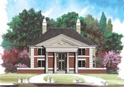 Georgian Style House Plans Plan: 24-110