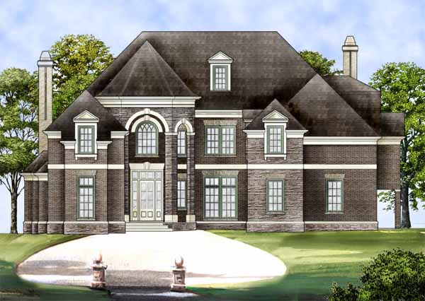 European Style Home Design Plan: 24-112
