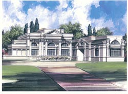 Greek-Revival Style Home Design Plan: 24-114
