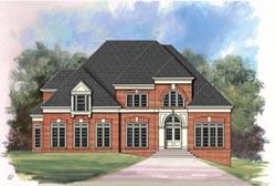 European Style House Plans Plan: 24-117