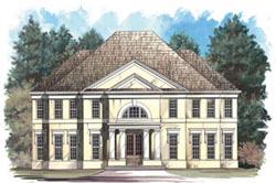 Mediterranean Style Home Design Plan: 24-118