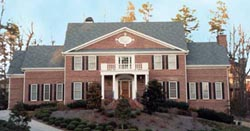 Southern-Colonial Style Floor Plans Plan: 24-119