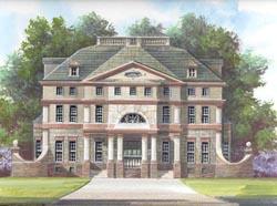 European Style Home Design Plan: 24-123