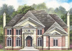 European Style Home Design Plan: 24-124