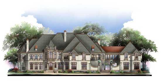 European Style Home Design Plan: 24-126