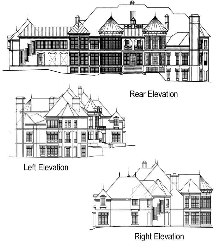 Rear Elevation Plan: 24-126