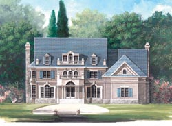 Southern-Colonial Style Home Design Plan: 24-128