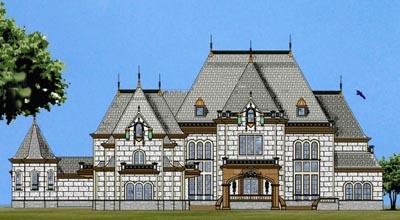 European Style House Plans Plan: 24-129