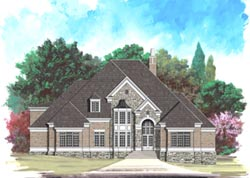 European Style Floor Plans Plan: 24-132