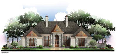 European Style Home Design Plan: 24-135