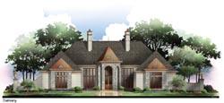 European Style Home Design Plan: 24-135