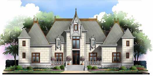 European Style Home Design Plan: 24-138