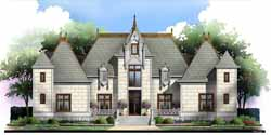 European Style Home Design Plan: 24-138