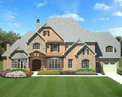 French-Country Style Floor Plans Plan: 24-139