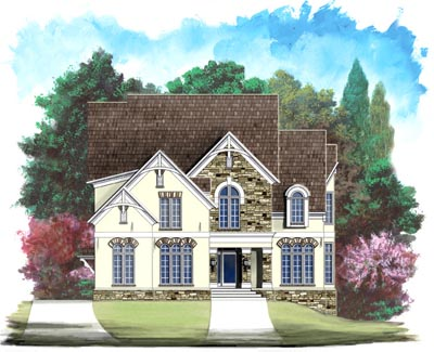 European Style Home Design Plan: 24-140