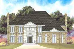European Style Home Design Plan: 24-142