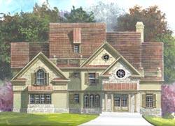European Style House Plans Plan: 24-151