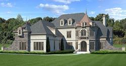 European Style Home Design Plan: 24-154