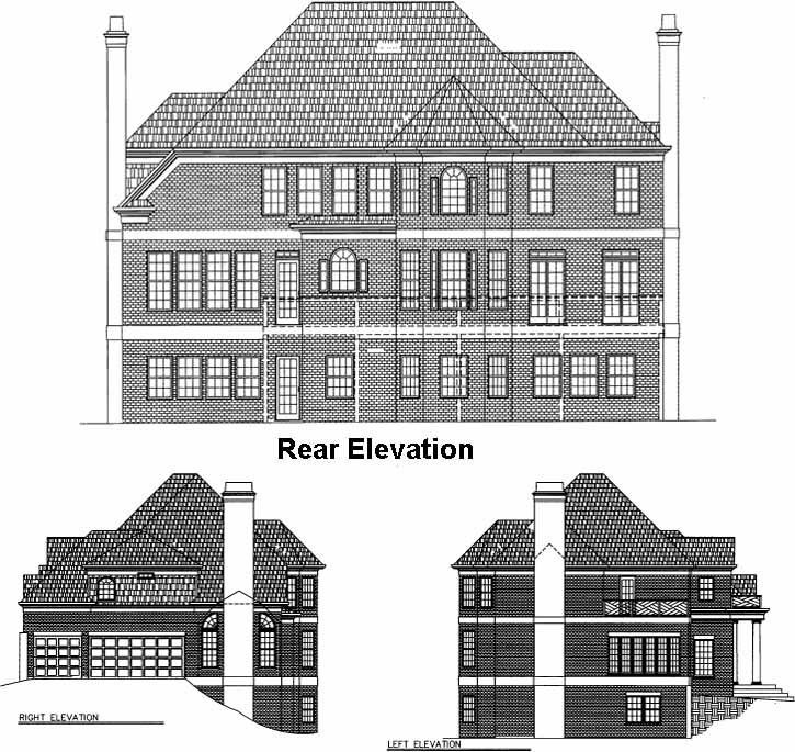 Rear Elevation Plan: 24-156
