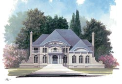 European Style Home Design Plan: 24-156