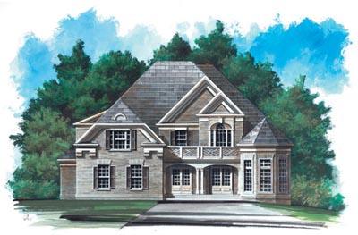 European Style House Plans Plan: 24-166