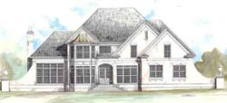 French-Country Style House Plans Plan: 24-167
