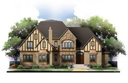 English-Country Style Floor Plans Plan: 24-168
