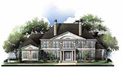 European Style Home Design Plan: 24-170