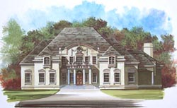 European Style House Plans Plan: 24-171