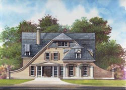 French-Country Style House Plans Plan: 24-173