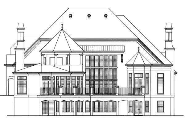 Rear Elevation Plan: 24-175