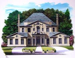 European Style House Plans Plan: 24-176