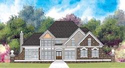 European Style Home Design Plan: 24-178