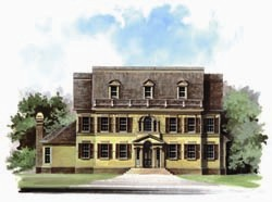 Southern-Colonial Style Floor Plans Plan: 24-179