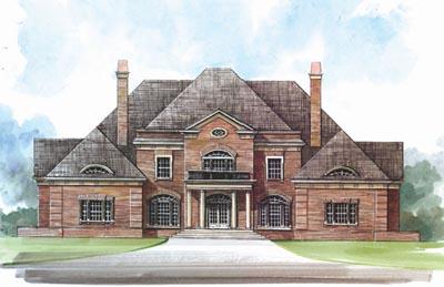 European Style Home Design Plan: 24-180