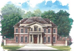 Southern-Colonial Style Floor Plans Plan: 24-182