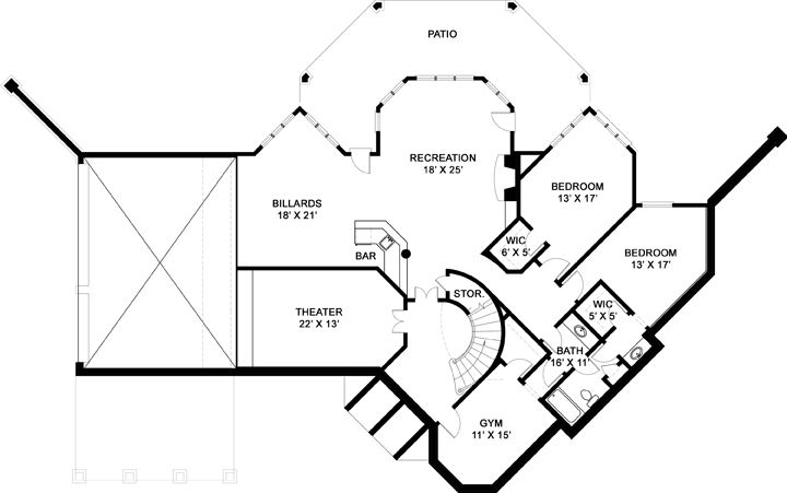 Lower Floor Plan: 24-185