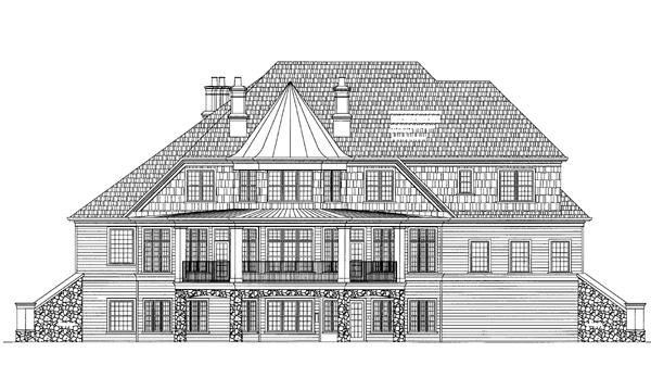 Rear Elevation Plan: 24-185