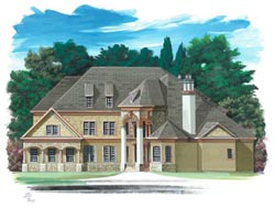 European Style House Plans Plan: 24-185