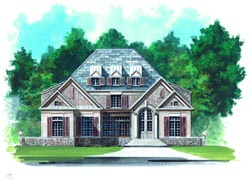 European Style Home Design Plan: 24-186