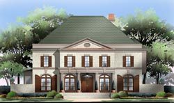 Southern-Colonial Style House Plans Plan: 24-187