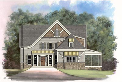 European Style House Plans Plan: 24-188