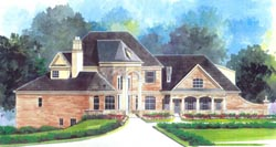 European Style House Plans Plan: 24-193