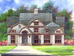 Hampton Style House Plans Plan: 24-195