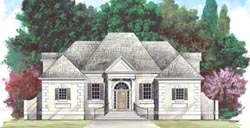 European Style Home Design Plan: 24-197