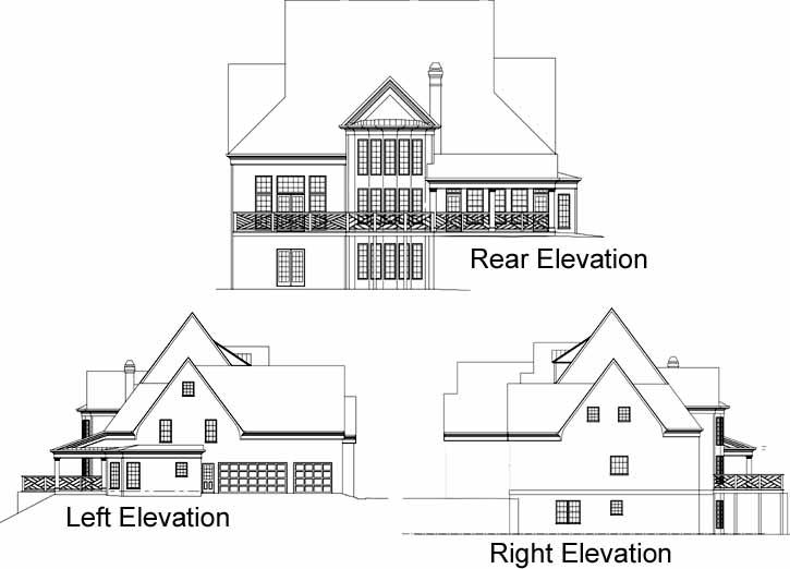 Rear Elevation Plan: 24-198